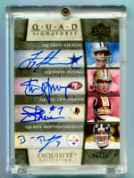 STEVE YOUNG/TROY AIKMAN/BEN ROETHLISBERGER 2006 Exquisite Quad Auto SP 8/10 1/1