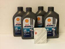 Shell Advance Ultra 4T 10W-40 / Original Ölfilter Ducati 659 695 696 alle