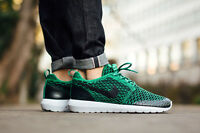 NIKE ROSHE NM FLYKNIT SE Running Trainers Shoes Gym Casual Green - Various Sizes