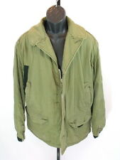 VTG Buaero US Navy AL-1 Flight Jacket Drybak Military Faux Fur Lined Coat RARE