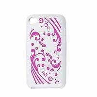 Fuchsia Spoondrift Muster Silikon Schutzhülle für iPod Touch 4G weiß