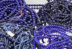 40 Vintage Strands of Genuine Lapis Lazuli Beads + Loose Beads 6000 Carats +