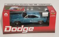 ERTL 1/18 1969 DODGE DAYTONA BLUE WITH BLACK WING 1 OF 500 with MOPAR tool box