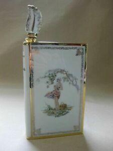 Vintage Limoges Porcelain Book-Shaped Decanter ~ Calvados ~Les Pommes Young Lady