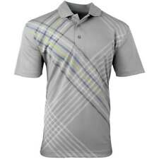 Page & Tuttle Painted Raker Print Polo  Athletic Golf  Tops Grey Mens - Size L