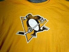 Pittsburgh Penguins T-Shirt Mens 3Xl Graphic Tee Faded Classic logo Yellow