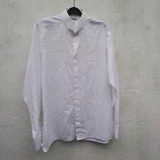 Moss Bros Shirt Men's white 80s Vintage