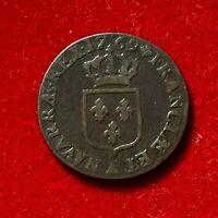 #2700 - RARE Louis XV Demi sol à la vieille tête 1769 A Paris TTB - FACTURE