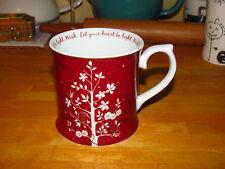 "Elegant 2009 STARBUCKS 'Rosanna' Coffee Mug / Cup ""Wish.Let Your Heart Be Light"""
