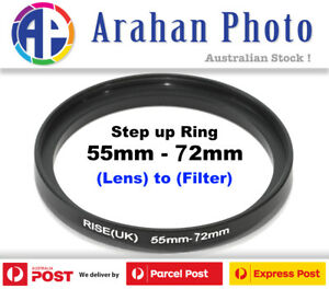 Step Up Ring 55-72 Filter Lens Adapter 72mm Filter to 55mm Lens