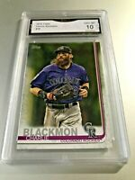 CHARLIE BLACKMON 2019 Topps #16 GMA Graded 10 Gem Mint