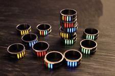 TC4 Titanium Alloy Tritium Lamp Tube Finger Ring Night Self-luminous Ring