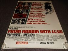 """From Russia With Love movie poster reprint 1993, approx. 23""""x35"""" James Bond"""