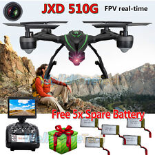 FPV 2.4Ghz JXD510G RC Quadcopter Drone with 2MP HD Camera RTF UFO UAV+5 Battery
