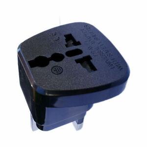 EU 2 Pin To 3 Pin UK ELECTRIC SHAVER TOOTHBRUSH PLUG ADAPTOR/PLUG 13A Fuse