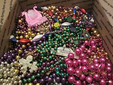 Mardi Gras Beads Necklaces 15+ pounds Large Flat Rate Box Full