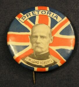 Patriotic Boer War Union Jack Badge - Lord Roberts Pretoria