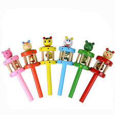 Baby Toy Cartoon Animal Wooden Handbell Musical Developmental Instrument zy 2018