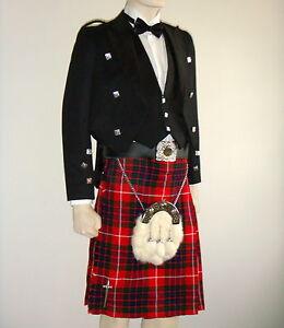 8pcs   Scottish Prince Charlie Jacket, Vest & Kilt outfit set   PCJK8   Geoffrey