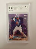 2018 Topps Toys R Us Purple Amed Rosario #63 BCCG 10 Rookie RC New York Mets
