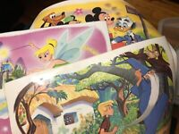 Vintage 1960s Walt DISNEY Productions PLACEMATS Set of 3 Sword In The Stone