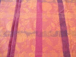 "Tablecloth 96""L x 58""W Fall / Thanksgiving Print Cotton"