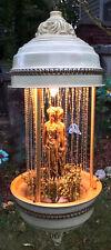 """VINTAGE HANGING OIL RAIN LAMP 3 GREEK GODDESS SWAG LAMP LARGE 36"""" X 14"""" WORKING"""