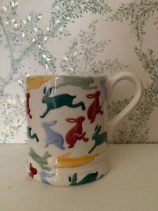 Emma Bridgewater Polka Hares for Break Half Pint Mug New 1st Quality