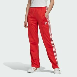 adidas Originals Womens 3-Stripes Firebird Track Pants Red Joggers