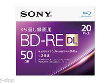Sealed Pack Sony Rewritable Bluray Disc BD-RE DL 50GB 2x Inket Printable Blu ray