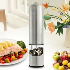 Stainless Steel Electric Kitchen Spice Sauce Salt Pepper Mill Grinder