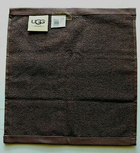 UGG Home Classic Luxe Bath Towel 13in x 13in WASH CLOTH Face Cloth Raisin NEW
