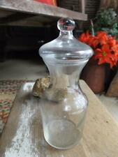Sweet Small Old Primitive Vintage or Antique Glass Apothecary Jar