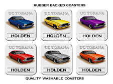 78' 79'  HOLDEN  UC  TORANA  HATCHBACK  COUPE   SET OF 6  RUBBER DRINK  COASTERS
