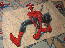 Vintage Used Spiderman Twin Bed Flat  Sheet and Pillow Case
