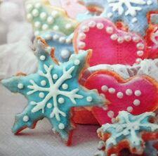 20 X Tovaglioli di carta (confezione da COMPLETO) Natale biscotti Star-party, Tavola - 53
