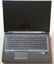"""HP 8770w Elitebook Workstation 2.7GHz Core i7 3820QM 17"""" K4000M 1920x1080 416"""