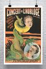 Half Man Half Snake Vintage Sideshow Poster Giclee Print on Canvas or Paper