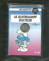FRANCE 10 EURO SILVER COIN SCHTROUMPF/SMURF Hero doctor of pangolin fever