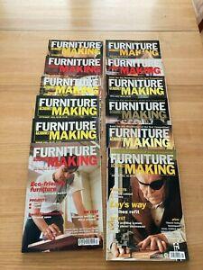 Furniture and Cabinetmaking magazines Jan-Dec 2001 Full Year