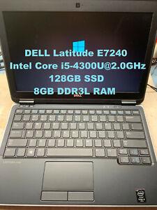 """*DELL Latitude E7240_Intel Core i5-4310U@2.0GHz_128GB SSD_8GB RAM_12.5"""" Screen*"""