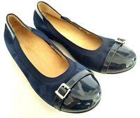 Vionic Spark Neva Orthaheel Womens Size 8 Navy Slip on Casual Ballet Flats Shoes