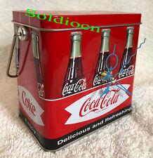 Coke Coca Cola Collection Aluminum Tin Tank Cans Music Box + Quartz desk Clock