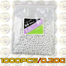 1000PCS Hard Airsoft Pellets BB Strikeball 0.2g - 6mm Tactical BB Balls (0.20g)