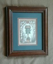WELCOME FRIENDS BIRDHOUSE FRAMED PRINT BY LINDA SPIVEY