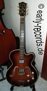 Hofner Höfner Halbakustik-Gitarre President brunette E2 Slim Jahr 1962 bis 1964