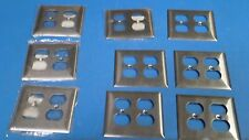Hubbell Wiring SS82 2 Gang Duplex Receptacle Wallplate S/S ( LOT OF 9 )
