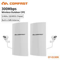 COMFAST CF-E130N 2x WiFi Outdoor CPE 300Mbps Point Bridge Signal Network Antenna