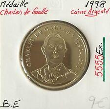 MEDAILLE - CHARLES DE GAULLE - 1998 - Qualité: BE