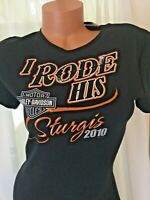 Womens Harley Davidson Sturgis 2010 vintage Black logo t shirt Medium New W tags
